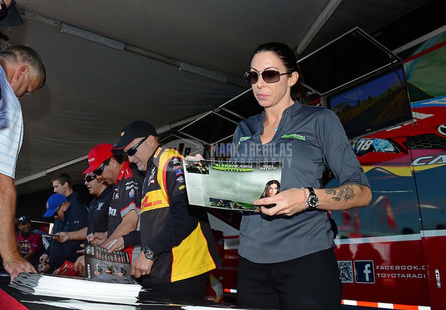 28-30 September, 2012, Madison, Illinois USA, Alexis DeJoria, Patron, Toyota Camry, pit pass @2012, Mark J. Rebilas