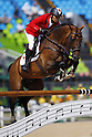 Taizo Sugitani (JPN), <br /> AUGUST 14, 2016 - Equestrian : <br /> Jumping Individual Qualification <br /> at Olympic Equestrian Centre <br /> during the Rio 2016 Olympic Games in Rio de Janeiro, Brazil. <br /> (Photo by Koji Aoki/AFLO SPORT)