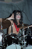 NEW YORK CITY, NY JANUARY 30: Tommy Lee of Motley Crue performs at Madison Square Garden on on January 30, 1984 in New York City, New York.  photo by Larry Marano (C) 1984.