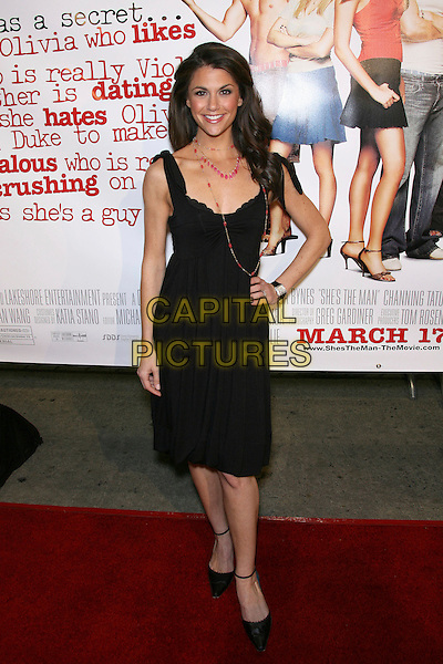 "SAMANTHA HARRIS.""She's The Man Premiere"" - Arrivals held at Mann Village Theater, Hollywood, California, USA.March 8th, 2006.Photo: Zach Lipp/AdMedia/Capital Pictures.Ref: ZL/ADM.full length black dress hand on hip.www.capitalpictures.com.sales@capitalpictures.com.© Capital Pictures."