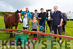 Liam,Billy and  Millie Coffey, Tom Johnson, Cormac O'Shea and Donal O'Shea at the Power horse Tresher at the Treshing for Cancer in Beaufort on  Sunday