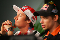 26.04.2012 SPAIN -  G.P. Bwind de España Jerez Press Conference. The picture show Nicky Hayden (USA rider Ducati Team DUCATI)