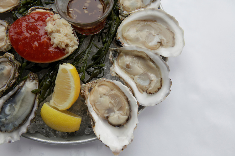 Raw oysters at the Aquagrill in Manhattan...(April 2, 2011).Photo by Danny Ghitis