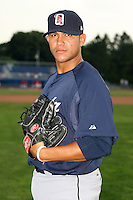July 23 2008:  Pitcher Orlando Perdomo of the Oneonta Tigers, Class-A affiliate of the Detroit Tigers, during a game at Dwyer Stadium in Batavia, NY.  Photo by:  Mike Janes/Four Seam Images