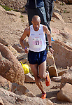 August 19, 2017 - Colorado Springs, Colorado, U.S. -  Colorado Springs runner, Joseph Gray, nears the summit on his way to winning the 62nd running of the Pikes Peak Ascent.  The Ascent is a full half-marathon gaining over 7800 feet in elevation to reach the summit at 14,115 feet.  Mountain runners from around the world converge on Pikes Peak for two days of racing on America's Mountain in Colorado Springs, Colorado.