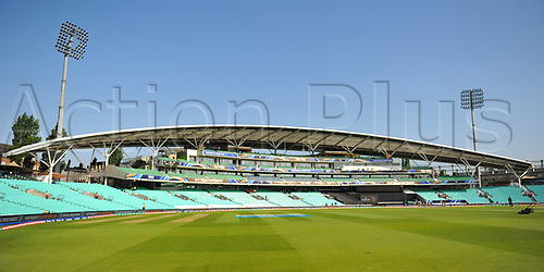 June 18th 2017, The Kia Oval, London, England;  ICC Champions Trophy Cricket Final; India versus Pakistan; The Oval before play starts