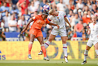 20190707 - LYON , FRANCE : American Abby Dahlkemper pictured in a duel with Dutch Lineth Beerensteyn during the female soccer game between The United States of America – USA-  and the Netherlands – Oranje Leeuwinnen -, the final  of the FIFA Women's  World Championship in France 2019, Sunday 7 th July 2019 at the Stade de Lyon  Stadium in Lyon  , France .  PHOTO SPORTPIX.BE | DAVID CATRY
