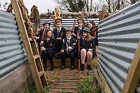 BNPS.co.uk (01202 558833)<br /> Pic: PhilYeomans/BNPS<br /> <br /> Fix Bayonets ! - Students of Garth Hill College in Bracknell get used to life in the trenches.<br /> <br /> Class War - A school has turned part of its playground into a replica First World War trench system that makes an fascinating and poignant living history classroom.<br /> <br /> The scaled down trenches allows pupils to get an authentic, hands-on lesson on what life and conditions were like for the unfortunate soldiers who served on the Western Front. <br /> <br /> As well as being given educational talks, students also get muddy taking part in re-enactment demonstrations in the trenches. <br /> <br /> The attention to detail includes replica rifles, bayonets, shell casings and even models of the ever present rats.<br /> <br /> The outdoor classroom is the first of its kind in the country and schools from miles around are booking up visits for their students to experience the real feel of the award winning movie 1917.