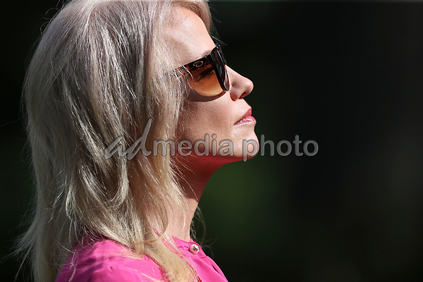 Counselor to the President Kellyanne Conway listens as President Donald Trump speaks during an event on Protecting Seniors with Diabetes in the Rose Garden of the White House on May 26, 2020 in Washington, DC.<br /> Credit: Oliver Contreras / Pool via CNP/AdMedia