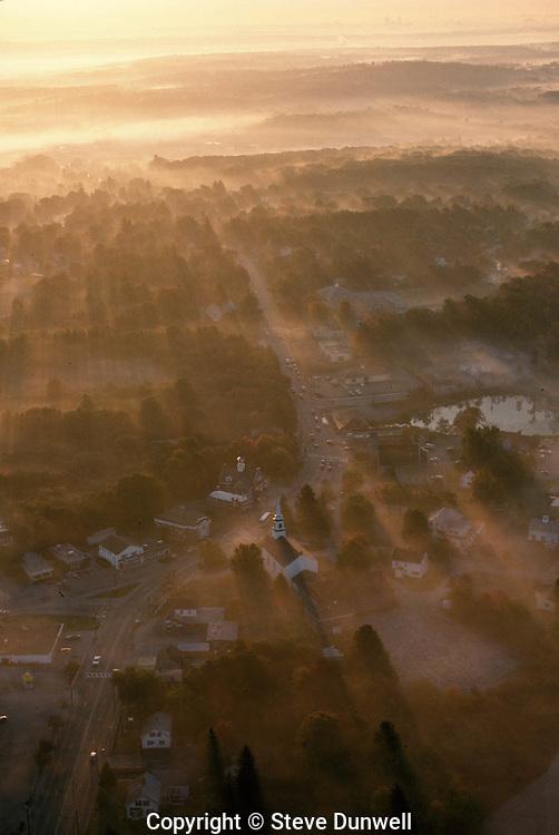 Aerial sunrise view, E. Greenwich, RI