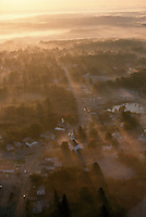 Aerial sunrise view, E. Greenwich, RI