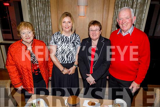 Sheila Martin (Castleisland), Peggy O'Callaghan (Castleisland), Catherine and Johnny Brosnan (Currow) at the launch of the Castleisland Presentation Secondary Schools CD launch in the Ballygarry House Hotel on Thursday