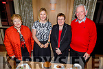 Sheila Martin (Castleisland), Peggy O'Callaghan (Castleisland), Catherine and Johnny Brosnan (Currow) at the launch of the Castleisland Presentation Secondary Schools CD launch in the Ballygarry House Hotel on Thursday