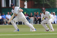 Daniel Lawrence in batting action for Essex as Ben Foakes looks on from behind the stumps during Surrey CCC vs Essex CCC, Specsavers County Championship Division 1 Cricket at Guildford CC, The Sports Ground on 10th June 2017