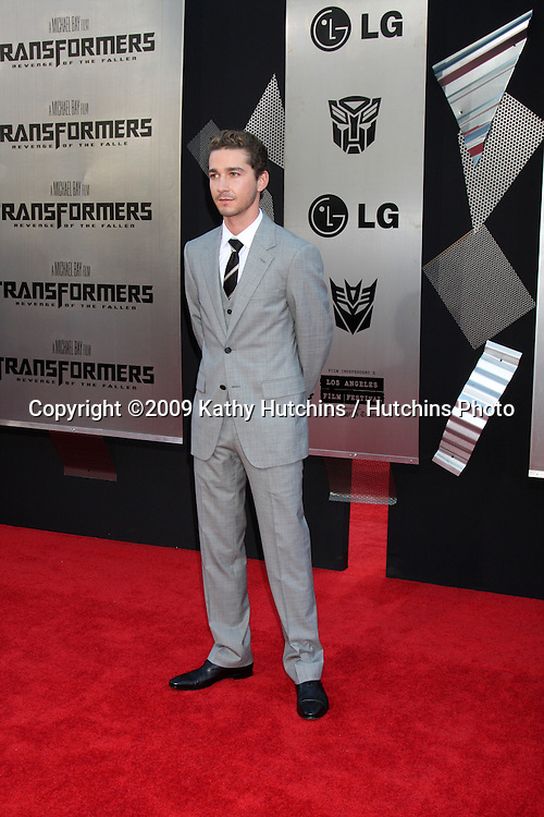 """Shia LaBeouf  arriving at the """"Transformers: Revenge of the Fallen"""" Premiere at the Mann's Village Theater in Westwood, CA  on June 22, 2009.  .©2009 Kathy Hutchins / Hutchins Photo"""