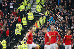 Derby fans taunt the Forest fans following the goal during the Skybet Championship match at the iPro Stadium. Photo credit should read: Philip Oldham/Sportimage