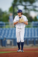 Charlotte Stone Crabs starting pitcher Josh Fleming (27) gets ready to deliver a pitch during a game against the Bradenton Marauders on August 6, 2018 at Charlotte Sports Park in Port Charlotte, Florida.  Charlotte defeated Bradenton 2-1.  (Mike Janes/Four Seam Images)