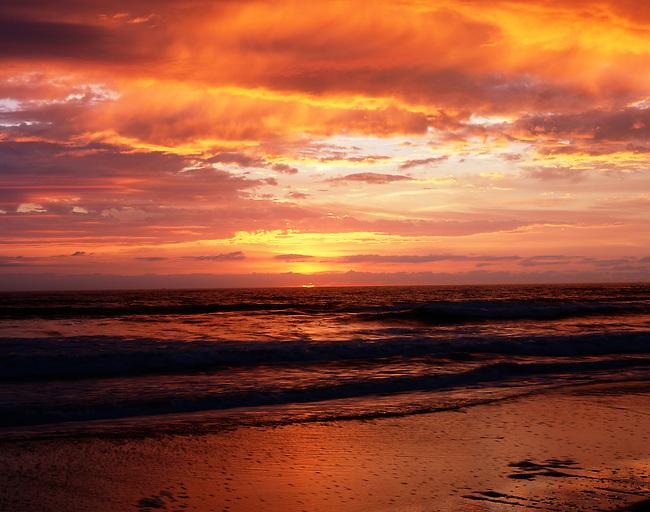 Sunrise along the Cape Hatteras shoreline; Cape Hatteras National Seashore