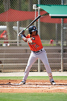 GCL Astros Rolando Espinosa (10) at bat during a Gulf Coast League game against the GCL Cardinals on August 11, 2019 at Roger Dean Stadium Complex in Jupiter, Florida.  GCL Cardinals defeated the GCL Astros 2-1.  (Mike Janes/Four Seam Images)