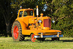 Minneapolis-Moline tractors in Prairie Gold paint..Model U with home-made enclosed cab