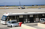 Passenger transfer bus at Rhodes airport, Greece