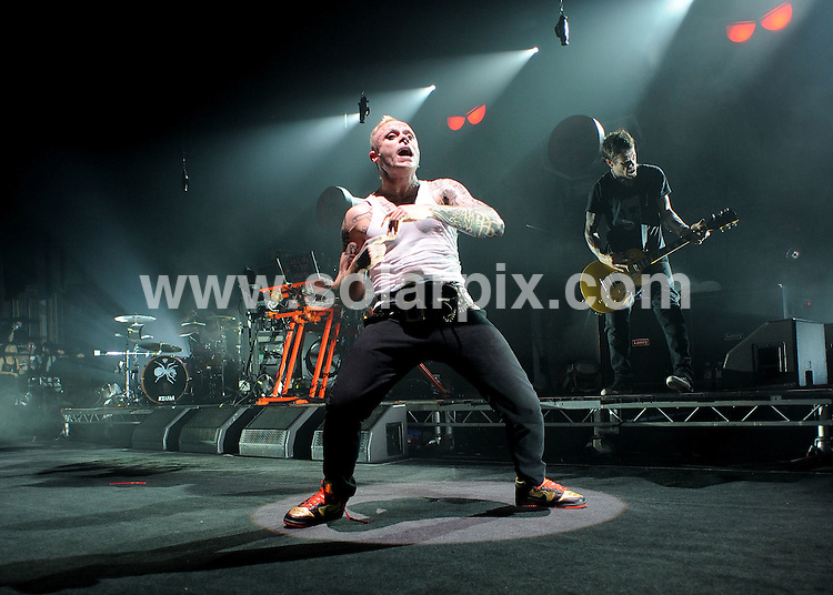 **ALL ROUND PICTURES FROM SOLARPIX.COM**.**WORLDWIDE SYNDICATION RIGHTS**.the Prodigy perform live in concert at Carling Brixton Academy, London, UK. December 12th 2008..JOB REF: 8158 SSD     DATE: 12_12_2008.**MUST CREDIT SOLARPIX.COM OR DOUBLE FEE WILL BE CHARGED* *ONLINE USAGE FEE £50.00 PER PICTURE - NOTIFICATION OF USAGE TO PHOTO@SOLARPIX.COM*