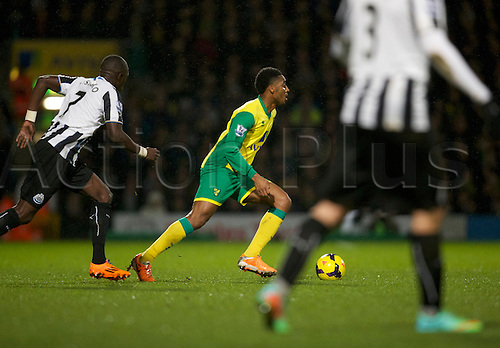 28.01.2014 Norwich, England.  Leroy Fer of Norwich City during the Premier League game between Norwich City and Newcastle United from Carrow Road.