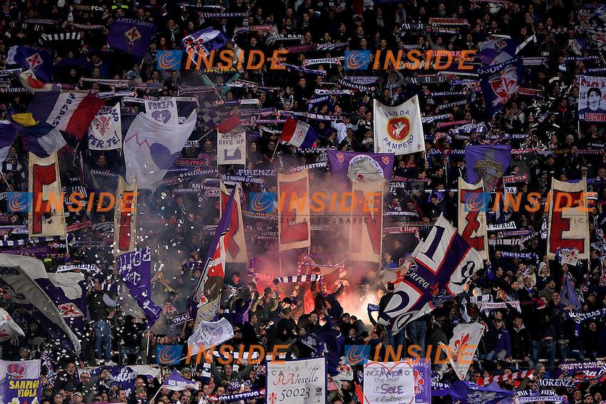 Tifosi Fiorentina Supporters <br /> Firenze 07-04-2015 Stadio Artemio Franchi, Football Calcio Coppa Italia Semifinale Fiorentina - Juventus Foto Andrea Staccioli / Insidefoto
