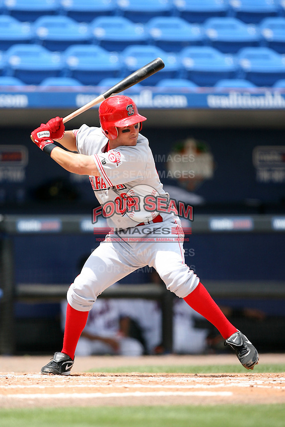 April 12, 2009:  Second baseman Justin Tordi of the Sarasota Reds Florida State League Class-A affiliate of the Cincinnati Reds, during a game at Tradition Field in St. Lucie, FL.  Photo by:  Mike Janes/Four Seam Images