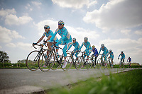 Team Astana<br /> <br /> 2014 Paris - Roubaix reconnaissance