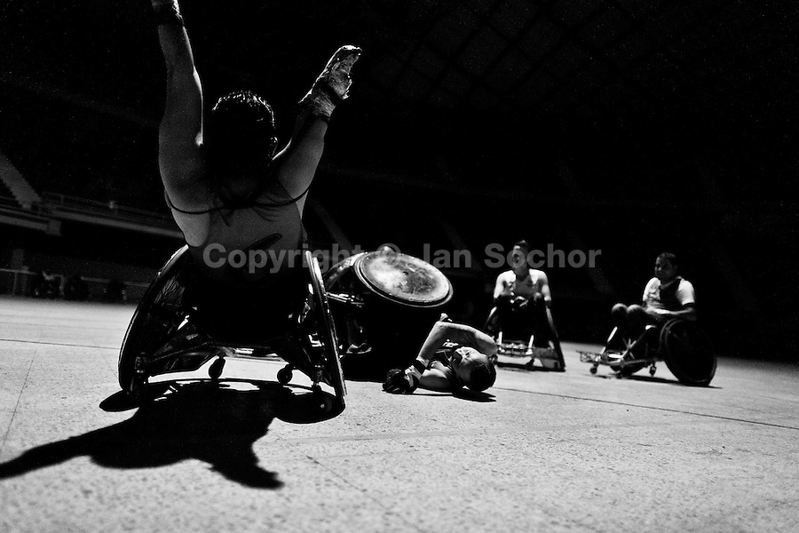 murderball Compilation of some big hits in wheelchair rugby.