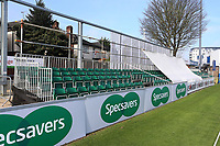 A view of the new seated area at the Hayes Close end during Essex CCC vs Durham MCCU, English MCC University Match Cricket at The Cloudfm County Ground on 3rd April 2017