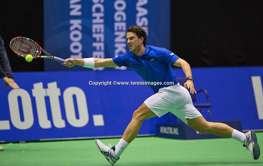Rotterdam, Netherlands, December 18, 2015,  Topsport Centrum, Lotto NK Tennis, Jesse Huta Galung (NED)<br /> Photo: Tennisimages/Henk Koster