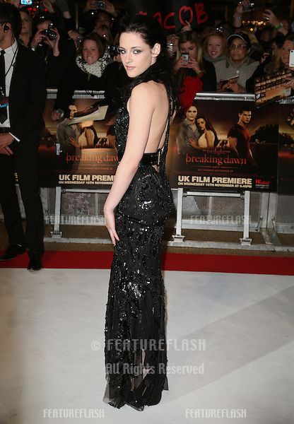 Kristen Stewart arriving for the UK premiere of The Twilight Saga: Breaking Dawn Part 1 at Westfield Stratford City, London. 17/11/2011 Picture by: Alexandra Glen / Featureflash