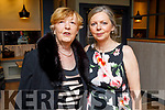 Nora Knapp from Lixnaw celebrating her birthday in Benners Hotel on Saturday with her friend Mary McCarthy who also celebrated her birthday during the past week ,