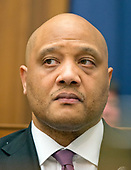 United States Representative Andre Carson (Democrat of Indiana), a member of the US House Committee on Transportation and Infrastructure, listens to testimony during the hearing concerning airline customer service issues in Washington, DC on Tuesday, May 2, 2017.<br /> Credit: Ron Sachs / CNP