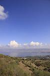 Israel, Lower Galilee, a view of the Sea of Galilee from Mount Poriya