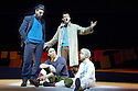 Herges Adventures of Tin Tin directed by Rufus Norris. A Young Vic Theatre Production. With Russell Tovey as Tin Tin, Sam Cox as Captain Haddock,Tom Wu as Tharkey,Simon Trinder as Snowy. Opens at the Barbican Theatre on 14/12/05. CREDIT Geraint Lewis