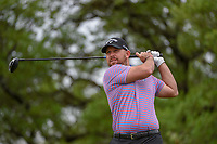 Scott Brown (USA) watches his tee shot on 2 during day 4 of the Valero Texas Open, at the TPC San Antonio Oaks Course, San Antonio, Texas, USA. 4/7/2019.<br /> Picture: Golffile | Ken Murray<br /> <br /> <br /> All photo usage must carry mandatory copyright credit (© Golffile | Ken Murray)