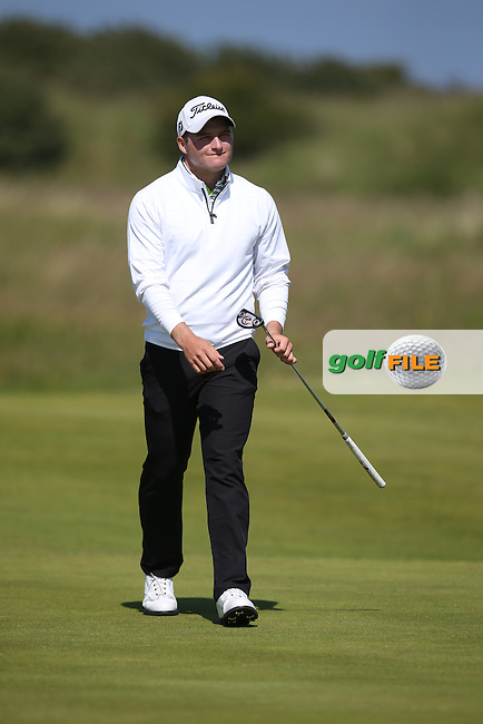 Still scrambling around the course, Zander Lombard (South Africa) wayward shots will result in a dropped shot on the 15th during the Semi-Finals at The Amateur Championship 2014 from Royal Portrush Golf Club, Portrush, Northern Ireland. Picture:  David Lloyd / www.golffile.ie