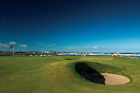 Dunbar from Dunbar Golf Course on the John Muir Way, East Lothian