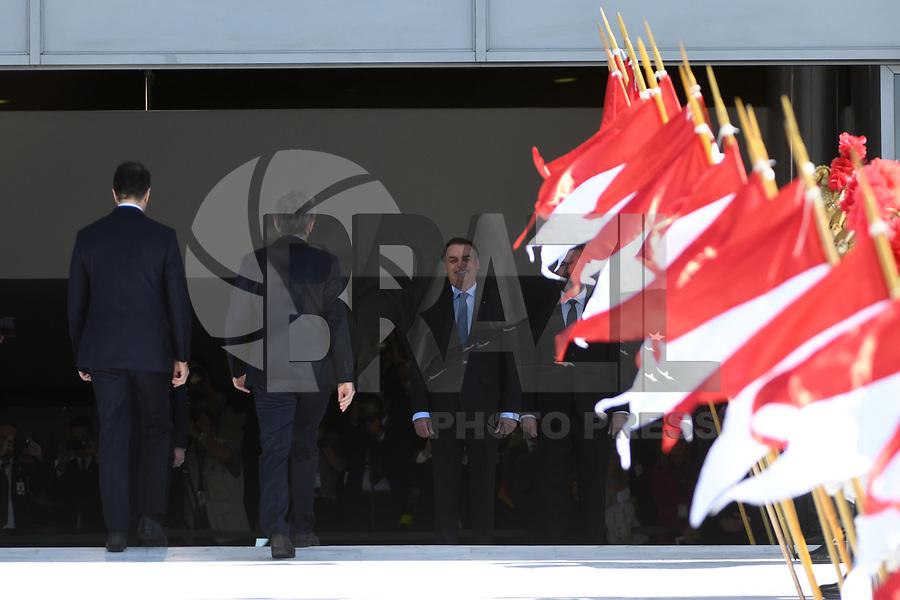 BRASÍLIA, DF, 16.01.2019 - BOLSONARO-MACRI - O presidente da Argentina, Mauricio Macri é recebido pelo presidente brasileiro Jair Bolsonaro no Palácio do Planalto em Brasilia nesta quarta-feira, 16. (Foto: Ricardo Botelho/Brazil Photo Press)