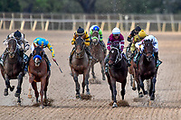 HOT SPRINGS, AR - APRIL 14:Arkansas Derby . Oaklawn Park on April 14, 2018 in Hot Springs,Arkansas. (Photo by Ted McClenning/Eclipse Sportswire/Getty Images)