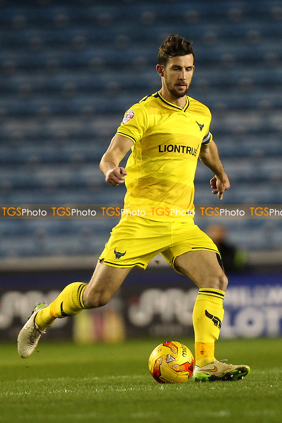 Jake Wright of Oxford United during Millwall vs Oxford United at The Den