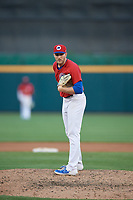 Buffalo Bisons relief pitcher Justin Shafer (33) during an International League game against the Norfolk Tides on June 22, 2019 at Sahlen Field in Buffalo, New York.  Buffalo defeated Norfolk 3-0.  (Mike Janes/Four Seam Images)