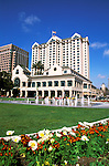 California: San Jose, Fairmont Hotel and Cesar Chavez Park..Photo copyright Lee Foster, 510/549-2202, lee@fostertravel.com, www.fostertravel.com..Photo #: cajos2101