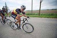 double Ronde winner Stijn Devolder (BEL/Trek Factory Racing) fallen behind after the final Paterberg ascent<br /> <br /> Ronde van Vlaanderen 2014