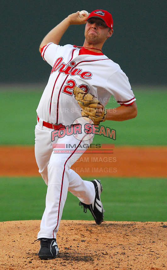 22 Aug 2007: Chris Jones of the Greenville Drive, Class A South Atlantic League affiliate of the Boston Red Sox, in a game against the Augusta GreenJackets at West End Field in Greenville, S.C. Photo by:  Tom Priddy/Four Seam Images