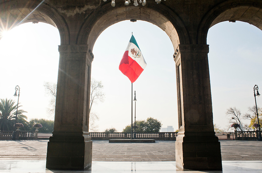 Chapultepec castle in Chapultepec Park, Mexico City.