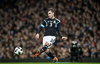 Nicolás Tagliafico (Ajax) of Argentina during the International Friendly match between Argentina and Italy at the Etihad Stadium, Manchester, England on 23 March 2018. Photo by Andy Rowland.